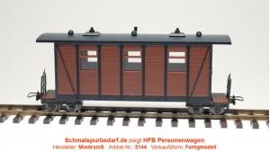 Personenwagen, braun / schwarz