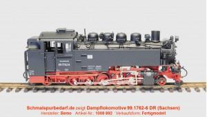 Dampflokomotive 99.1762-6 DR