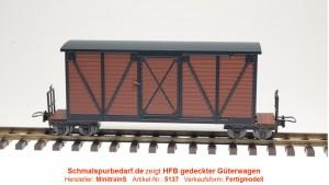 Kastenwagen, braun / schwarz