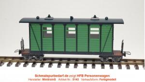 Personenwagen, grün / schwarz
