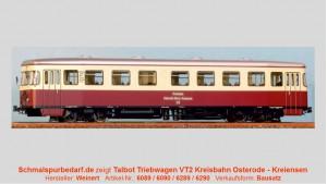 """Dieseltriebwagen Fa. Talbot Typ """"Osterode"""""""