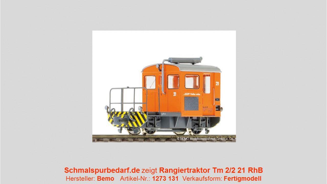 Bemo 1273131 Rangiertraktor Tm 2//2 21 RhB H0m