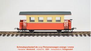 Personenwagen, orange / creme