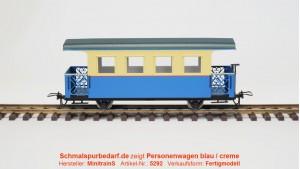 Personenwagen, blau / creme
