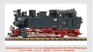 Dampflokomotive 99.1703-0 DR