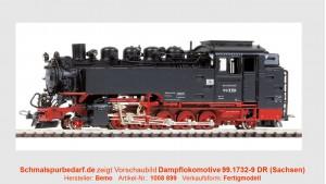 Dampflokomotive 99.1732-9 DR