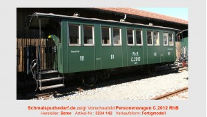 RhB Personenwagen C.2012, hist. Dampfzug