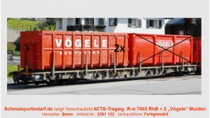 "RhB ACTS-Tragwagen R-w 8202 ""Vögele Recycling"""