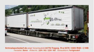 RhB ACTS-Tragwagen R-w 8379 mit Schiebeplanen-WB