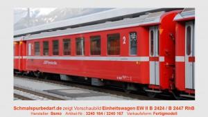 RhB Einheitswagen EW II B 2447, neurot