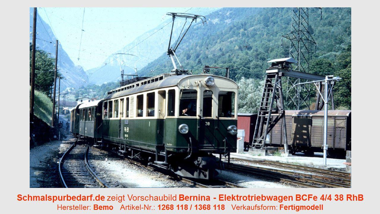 Bemo H0m 1268 148  RhB ABDe 4//4 38 Berninatriebwagen Digital SS NEUWARE UVP305.