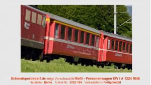 RhB Einheitswagen EW I A 1224, neurot
