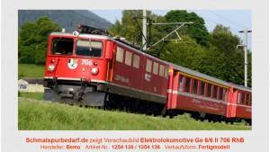 "RhB Elektrolokomotive Ge 6/6 II 706 ""Disentis"""