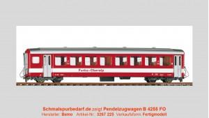 FO Pendelzugwagen B 4255, rot / weiß