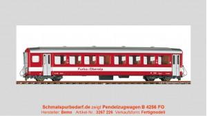 FO Pendelzugwagen B 4256, rot / weiß