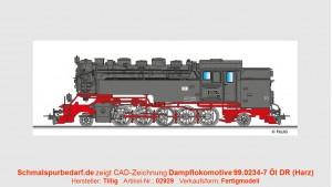 Dampflokomotive 99.0234-7 DR Öl