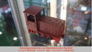 Diesellokomotive Typ Ns2f, rotbraun