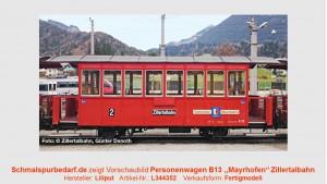 """Personenwagen B 13 """"Mayrhofen"""" ZB"""