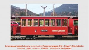 """Personenwagen B 18  """"Fügen"""" ZB"""
