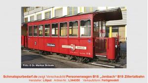 """Personenwagen B 15 """"Jenbach"""" ZB"""
