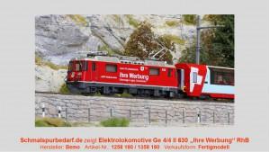 """RhB Elok Ge 4/4 II 630 """"Ihre Werbung"""" // Sound"""