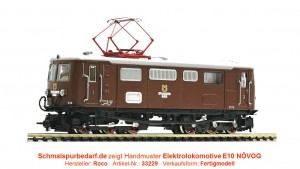 "Elektrolokomotive E10 ""Ötscherbär"" NÖVOG"