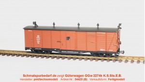 gedeckter Güterwagen GG 2274 K.S.Sts.E.B.