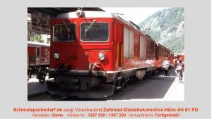 FO Zahnrad-Diesellok HGm 4/4 62 // digital