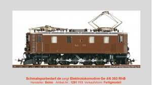 RhB Elektrolokomotive Ge 4/6 353 // digital