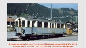 MOB Elektrotriebwagen BDe 4/4 18