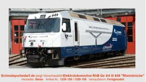 """RhB Elektrolokomotive Ge 4/4 III 649 """"Rheinrücke"""""""