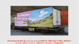 """RhB Lb-v 7858 mit Container """"Volg Mathon"""""""