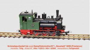 """Dampflokomotive N°1 'Neustadt' """"NKB"""""""