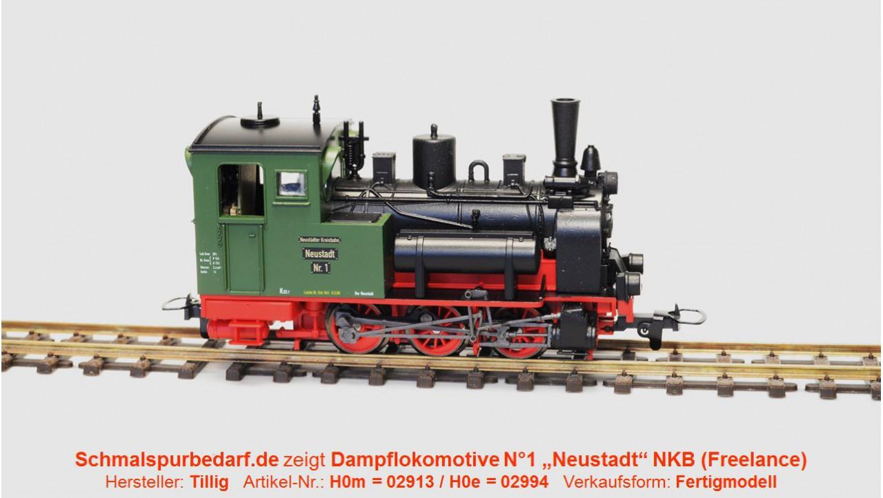 Tillig 02994 Dampflok Nr.1 Neustadt NKB H0e
