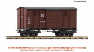 gedeckter Güterwagen DR