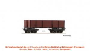 offener Waldbahn-Güterwagen