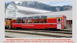 """RhB Bp 2502 Panoramawagen """"Bernina-Express"""" 2.Kl."""