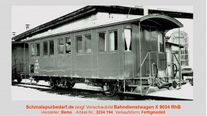 RhB Bahndienstwagen X 9034