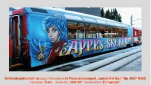 "MGB Bp 4027 Panoramawagen ""Aprés-Ski-Bar"", blau"