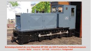 Diesellok HF130C als D20 Feldbahnmuseum Frankfurt