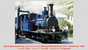 "DFB Zahnrad-Dampflok HG 2/3 6 ""Weisshorn"", blau"