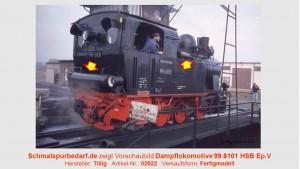 Dampflokomotive 99.6101 HSB