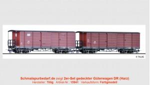 2er-Set gedeckter Güterwagen DR
