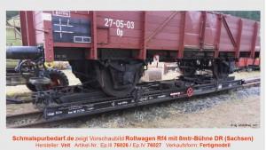 Rollwagen Rf4, 8 mtr-Bühnenlänge, DR