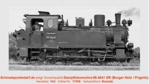 Dampflokomotive 99.4641 DR
