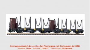 2er-Set ÖBB Flachwagen mit Drehrungen