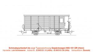 Gepäckwagen 905-151 DR