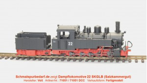 Dampflokomotive 22 SKGLB