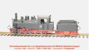 Dampflokomotive 22 SKGLB // digital