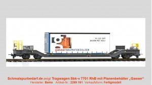 """RhB Sbk-v 7701 mit Planenbehälter """"Gasser"""""""
